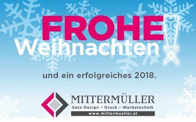 Druckerei Mittermüller WEIHNACHTSGRUSS