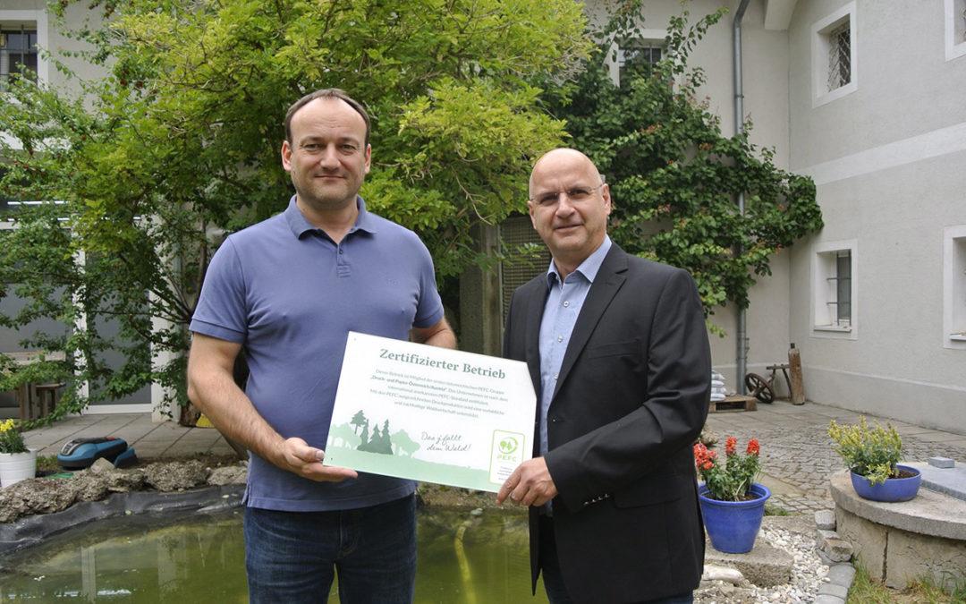 PEFC zertifizierte Druckerei