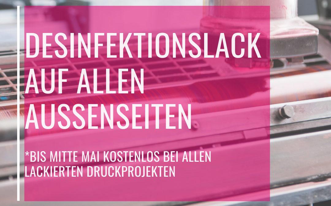 DESINFEKTIONSLACK LOCK 3 – Druckaktion