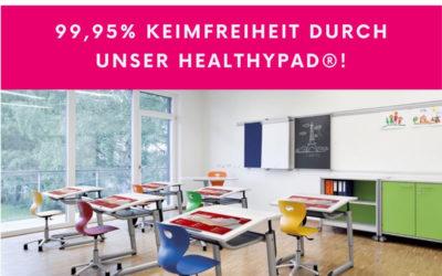 Keimfreie Tischauflagen für die Schule – healthyPad®