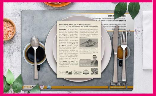 healthyPad® – Die keimfreie Tischauflage für die Gastronomie