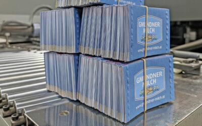 Frisch gedruckt: Brieflose für Gmundner Milch